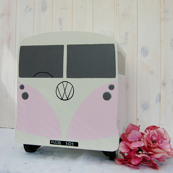 Campervan Wedding Post Box - Grace White and Sea Heather