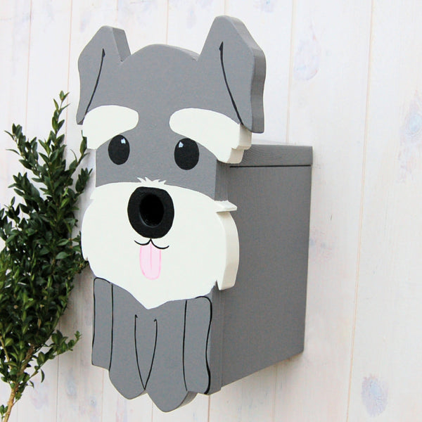 Schnauzer Dog Bird Box