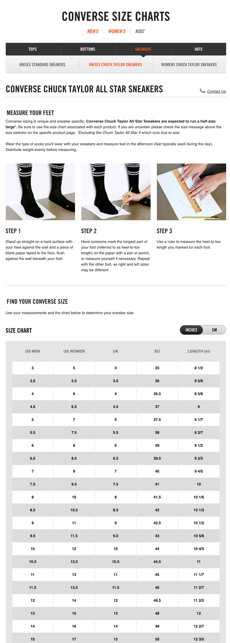 New items shop the bruce lee official store converse shoe size chart nvjuhfo Choice Image