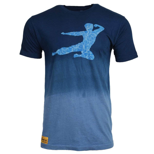 Be Water Ombre Flying Man T-shirt