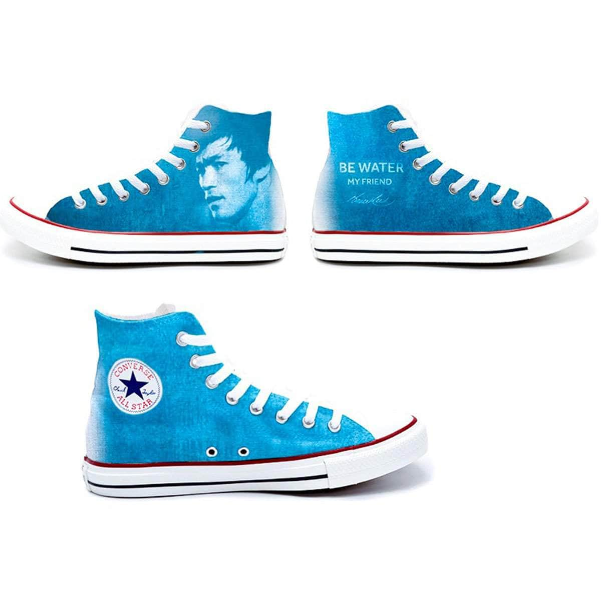 6ec2d42e86b733 Be Water My Friend Converse Chuck Taylor All Star High Top Sneakers ...