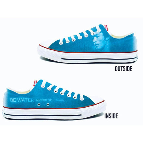 Be Water My Friend Converse Chuck Taylor All Star Low Top Sneakers | Shop the Bruce Lee Official Store
