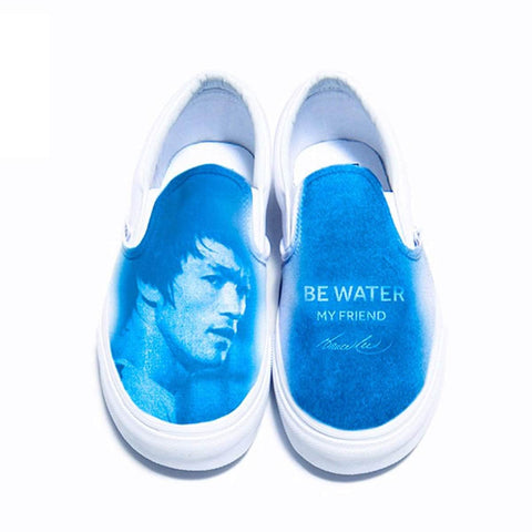 Be Water My Friend Vans Classic Slip-On Sneakers | Shop the Bruce Lee Official Store