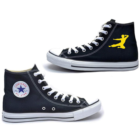 Flying Man Converse Chuck Taylor All Star High Top Sneakers | Shop the Bruce Lee Official Store