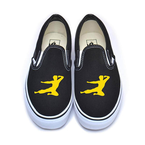 Flying Man Large Vans Classic Slip-On Sneakers | Shop the Bruce Lee Official Store