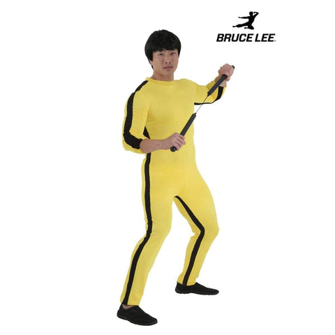 Costumes Galore Costume Bruce Lee Jumpsuit Costume with Wig