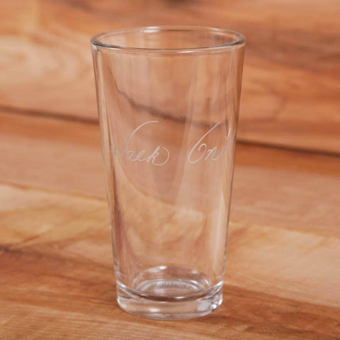 Crystal Imagery Drinkware Walk On! 16oz. Etched Glass