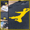 Flying Man T-shirt - Navy Triblend Shirt T Tycoon