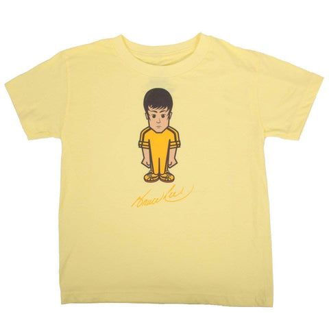 Hybrid Shirt Bruce Lee in Black and Yellow - Vintage Toddler T-shirt