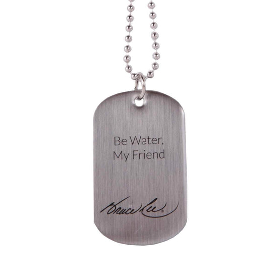 Lasting Impressions of Nashville Jewelry Be Water, My Friend Brushed Silver Dog Tag