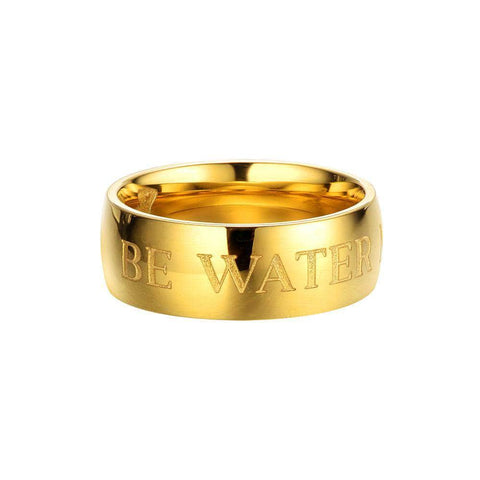 Be Water Ring - Gold | Shop the Bruce Lee Official Store