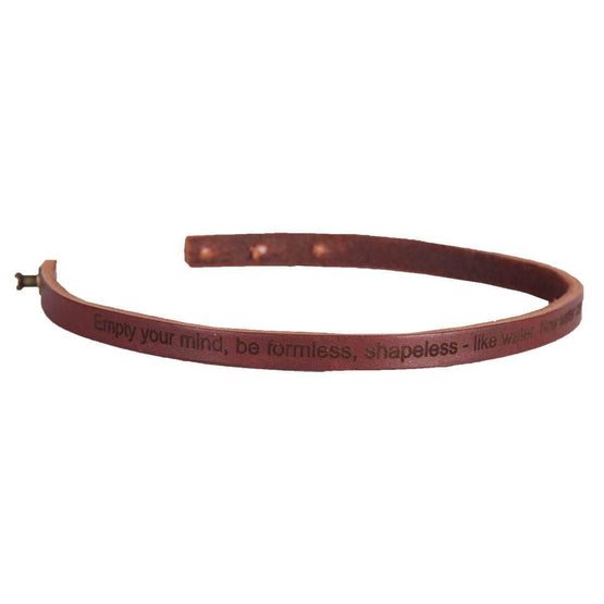 Rustico Wristband Be Water, My Friend Men's Leather Wristband - Brown