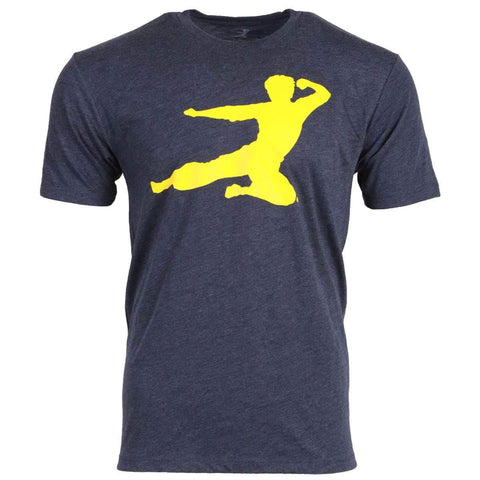 T Tycoon Shirt Flying Man T-shirt - Navy Triblend