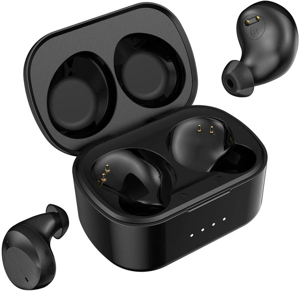 Geekee G650 True Wireless Earbuds Bluetooth 5.0 Headphones, aptX Codec CVC 8.0 Dual Mic Noise Cancelling Clear Voice Call in-Ear Headset IPX7 Waterproof 40H Playtime Wireless Charging Case