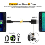 Micro USB/USB Cable OTG, Geekee 2 in 1 Micro USB to USB / Micro USB to Micro USB OTG Cable Sync and Charging Cable for Android Phones, PC and Tablets (3.28ft, Black)