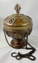 Large round Tibetan incense burner