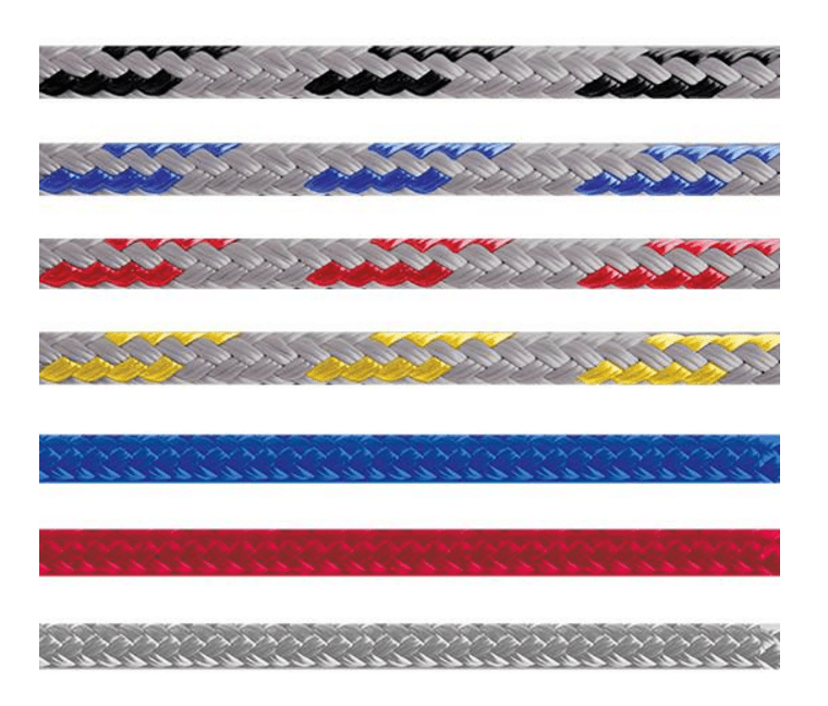 double braided polyester sailing rope easy to splice for sheets and halyards
