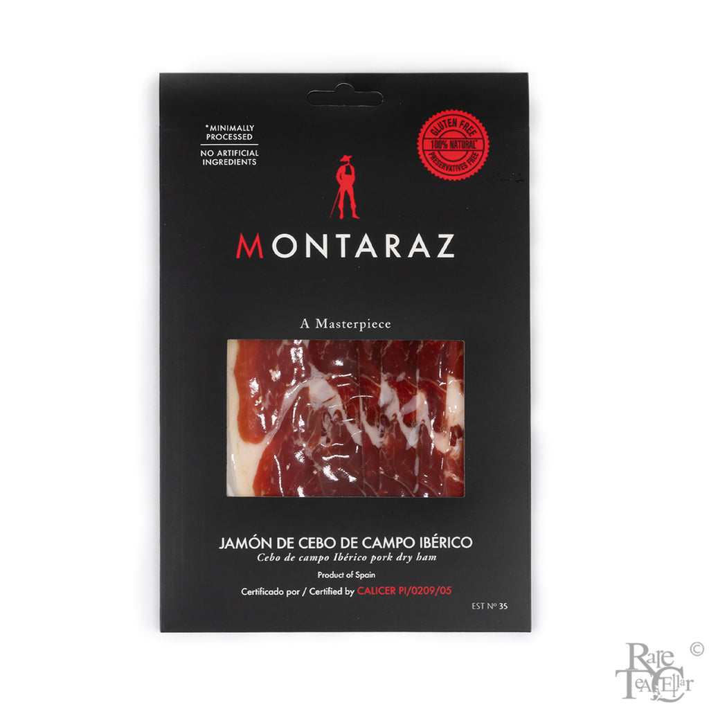 Montaraz Jamon Cebo de Campo Pre-sliced 2oz - Rare Tea Cellar