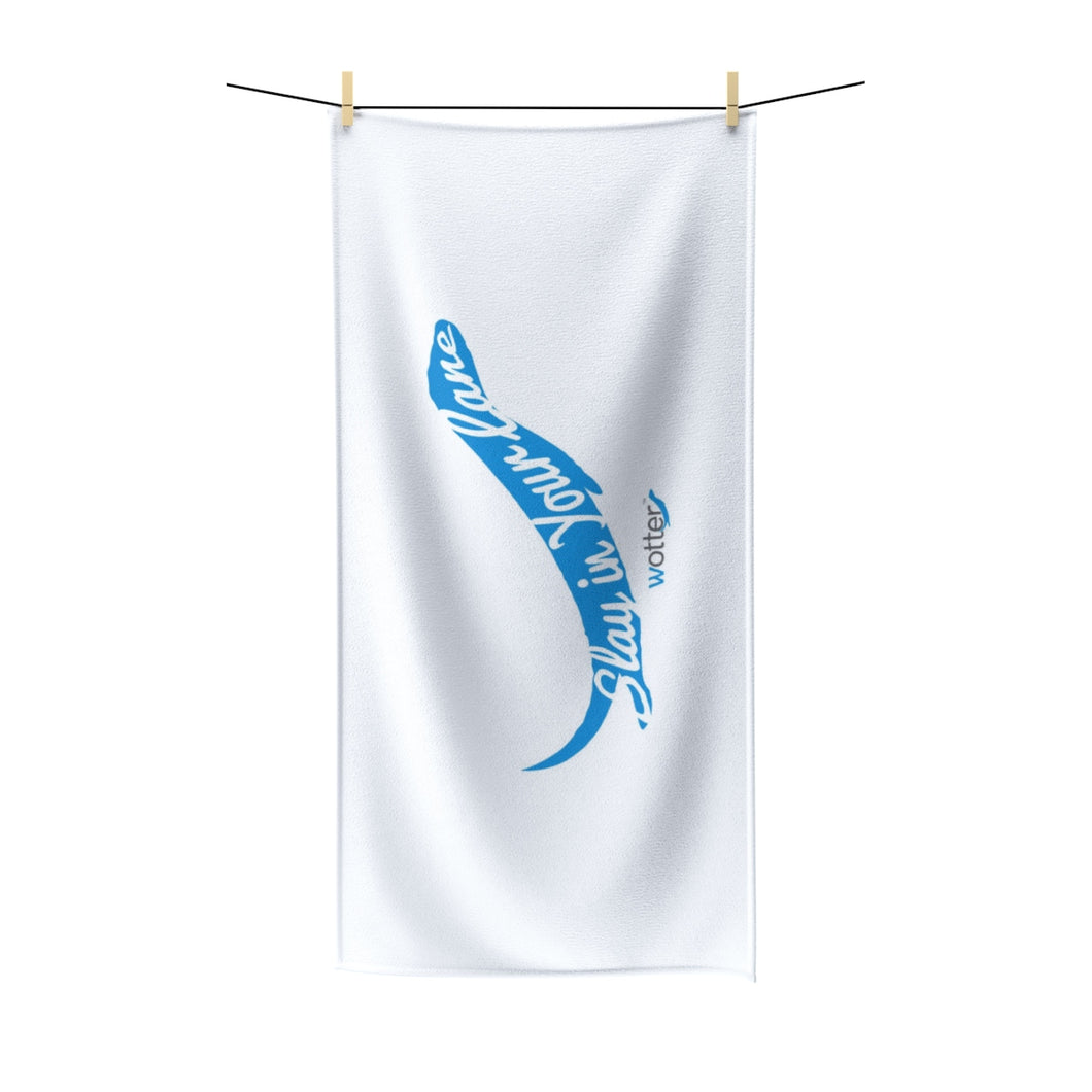 Slay in Your Lane - Microfiber Swim Towel - Wotter Swim Shop