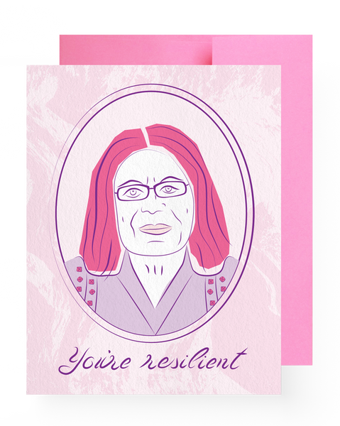 Gloria Steinem Compliment Card