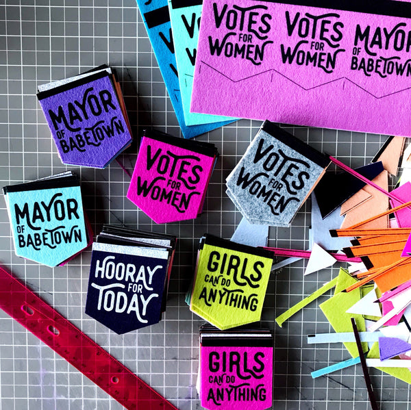 Votes for Women Sticker Card
