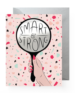 Smart & Strong Sticker Card