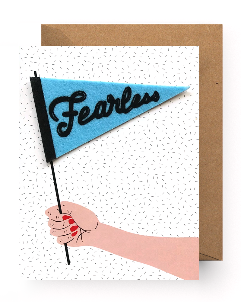 Fearless Pennant Sticker Card