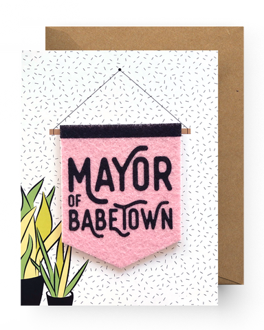 Mayor of Babetown Sticker Card
