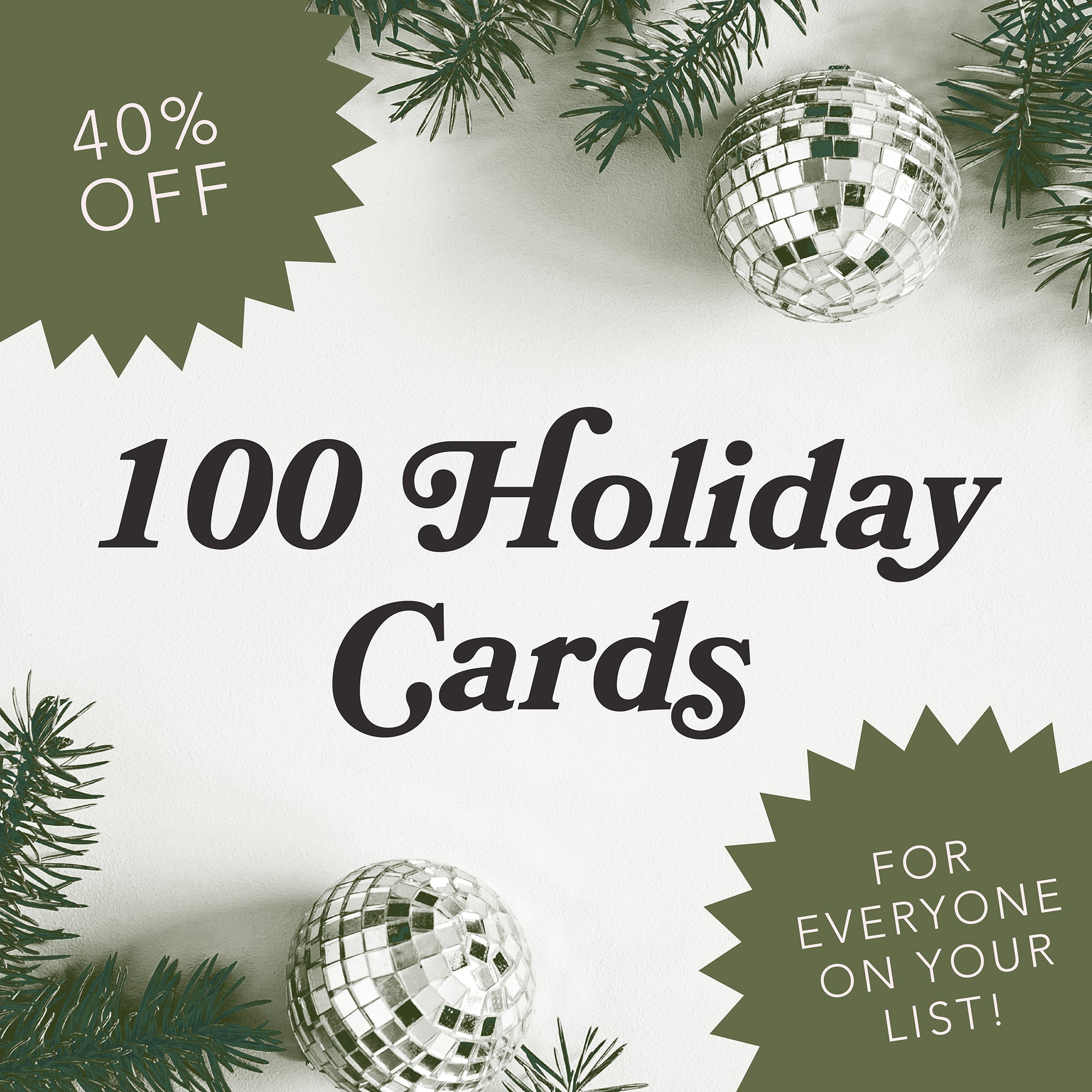 100 Holiday Cards