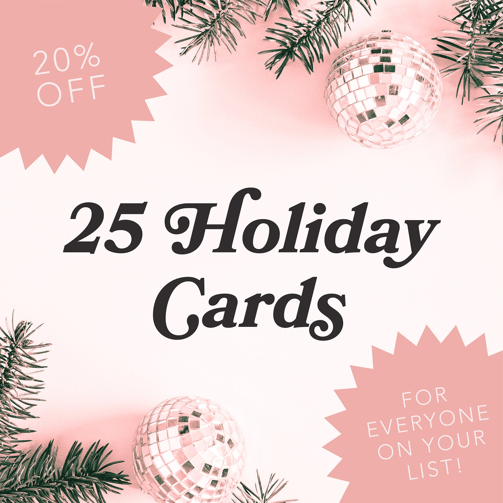 25 Holiday Cards