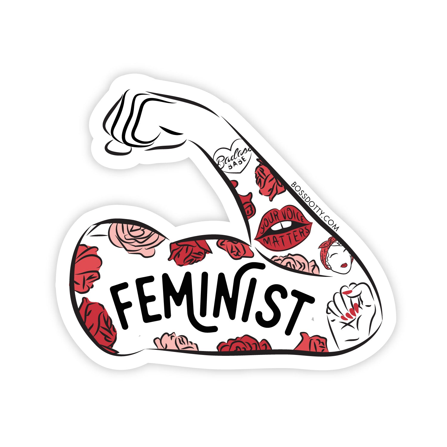 Feminist Tattoo Sleeve Sticker