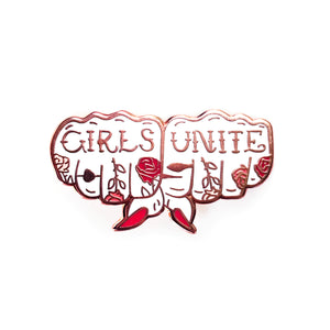 Girls Unite Enamel Pin