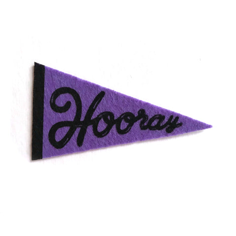 Hooray Pennant Sticker