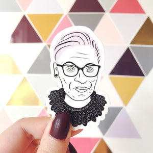 RBG Dissent Collar Sticker