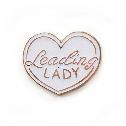 Leading Lady Glitter Enamel Pin