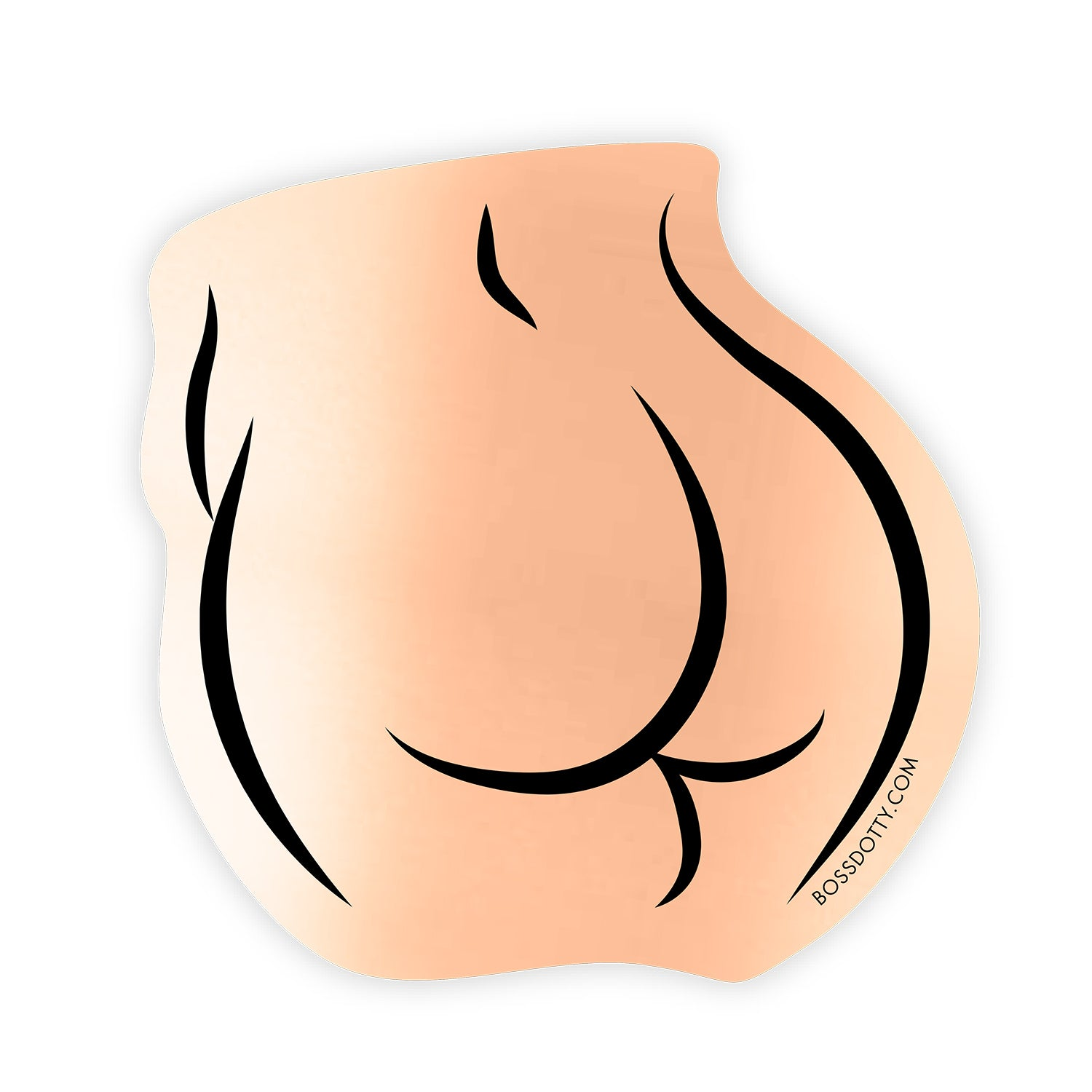 Rose Gold Butt Sticker
