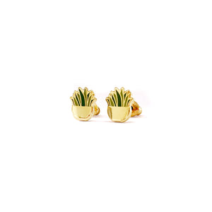 Snake Plant Earrings