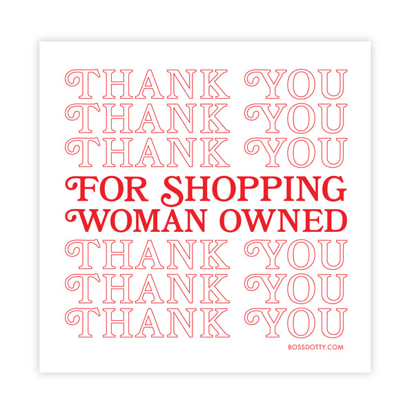 Woman Owned Sticker