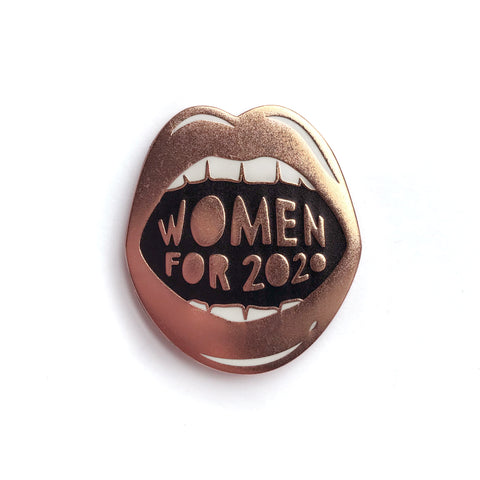 Women for 2020 Enamel Pin