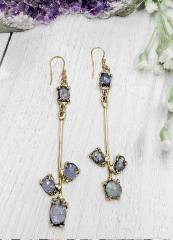 Tanzanite bloom earrings