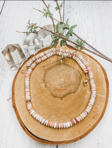 Pink Opal Necklace - Earth Sage Jewelry