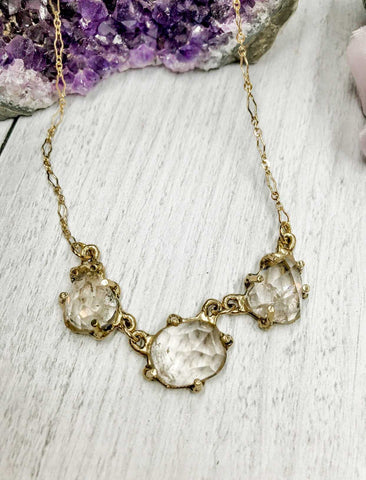 Champagne topaz statement necklace - Earth Sage Jewelry