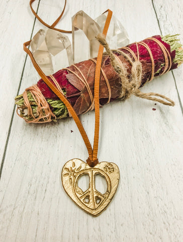 Peace and love pendant - Earth Sage Jewelry