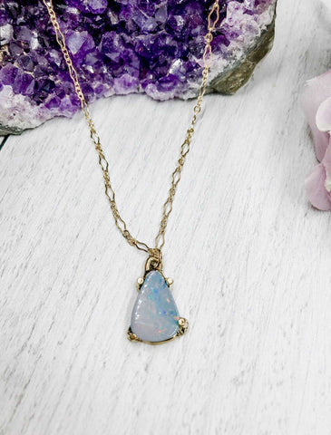 Blue opal pendant - Earth Sage Jewelry
