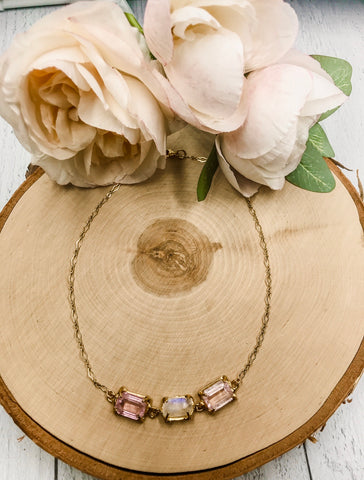 Kunzite and moonstone necklace - Earth Sage Jewelry