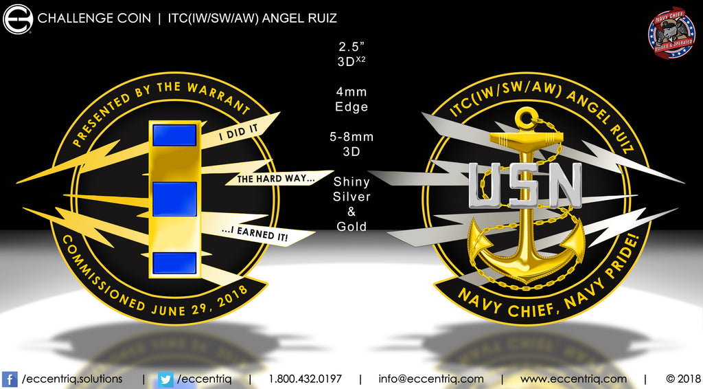 ITC Angel Ruiz Commissioning Challenge Coin