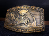"Gunner's Mate 3"" Belt Buckle (Antique Gold or Antique Silver)"