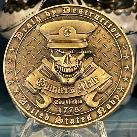 Gunner's Mate Death By Destruction Challenge Coin - GMC