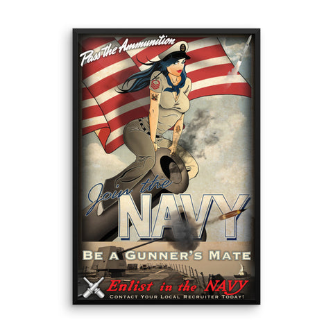 Gunner's Mate Recruiting Framed Poster