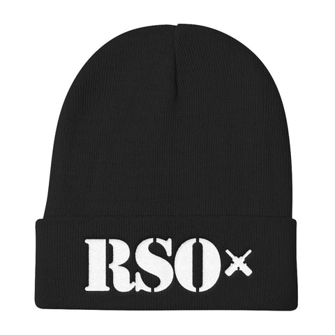 RSO Knit Beanie (White Embroidery)